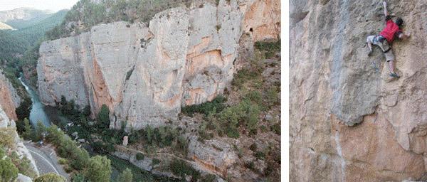 Caliza perfecta en el Mijares. Esau Soriano en Los Vaqueros de Woyoming (El Observatorio)