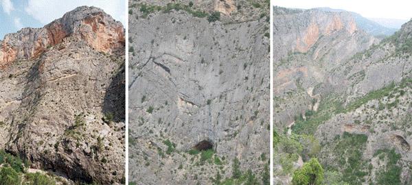 Algunas paredes y panorámicas del Barranco de la Maimona