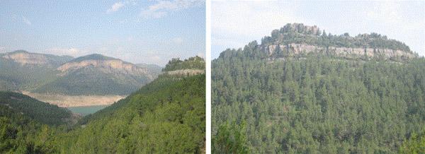 Inmejorables vistas del pantano de Arenós desde el antiguo castillo de la Viñaza