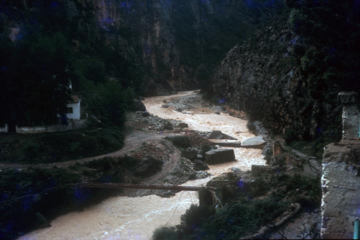 En algunas ocasiones el barranco de la Maimona se inunda durante días