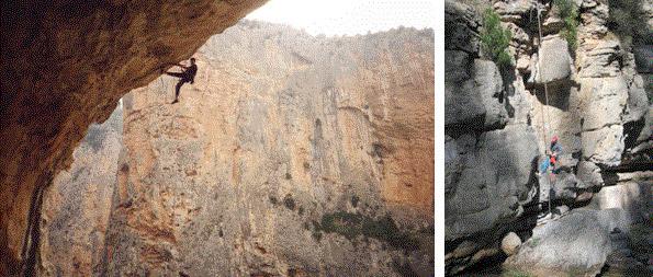 Abriendo via en la Cueva Digital y en las Pozas de La Maimona