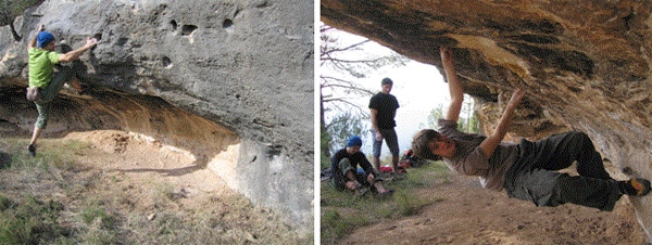El Boulder de Ernesto se encuentra a 14 km. de El Refugio de Montanejos