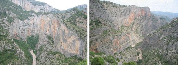 Las paredes de la Maimona alcanzan los 200m