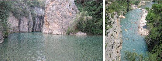 Las piscinas naturales de la Fuente de Baños están a 25º