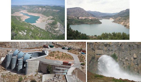 Impresionantes y modernas compuertas controlan el nivel de agua del pantano